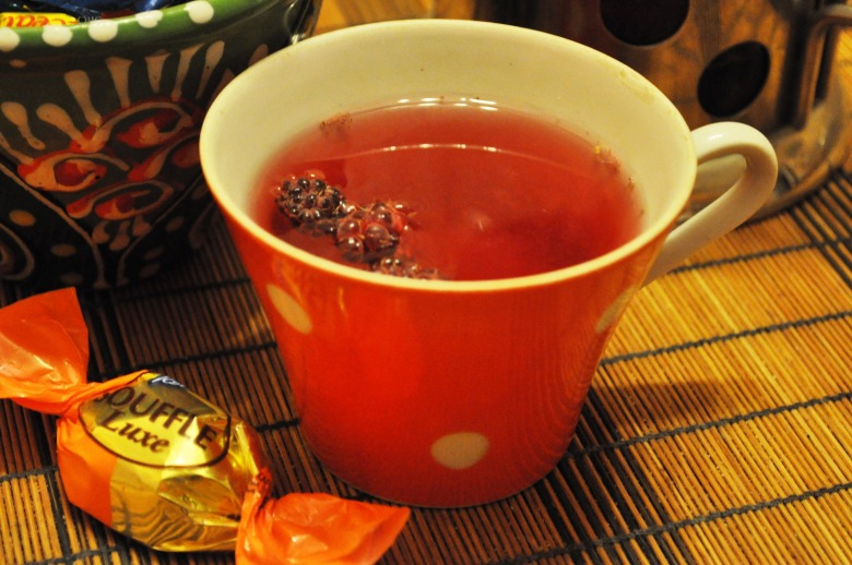 Малиновий чай з м'ятою