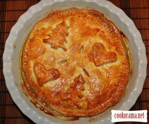 Пиріг з яблуками і карамеллю
