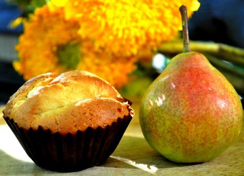 Ромові кекси із грушею