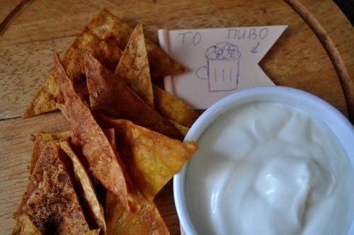 Чіпси з лаваша з трьома смаками