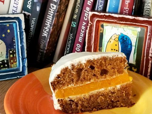 Морквяний торт із гарбузово-апельсиновим желе
