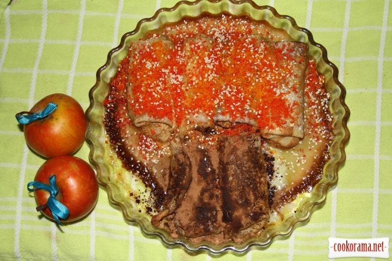 Блинный пирог «Деревья осенью..»
