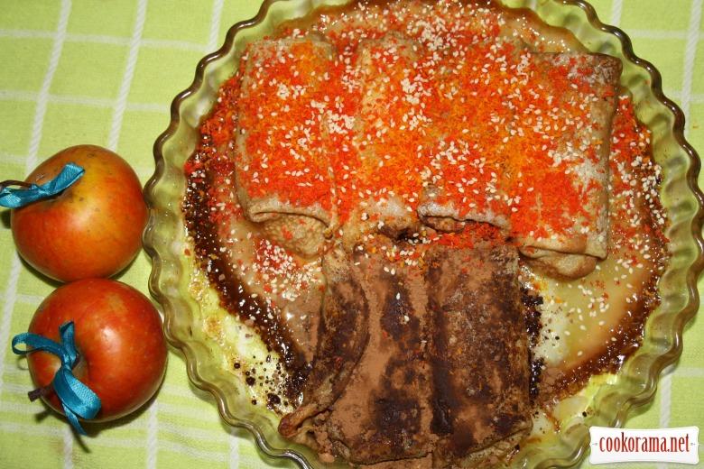 Млинцевий пиріг «Дерева восени..»