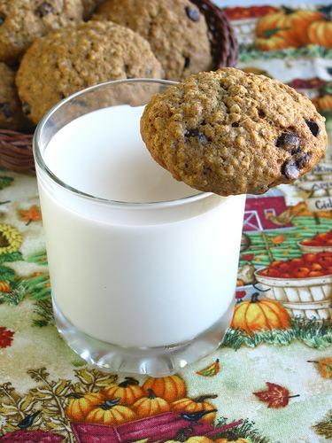 Гарбузове вівсяне печиво з шоколадом