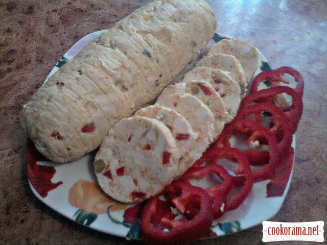Курячий рулет з овочами