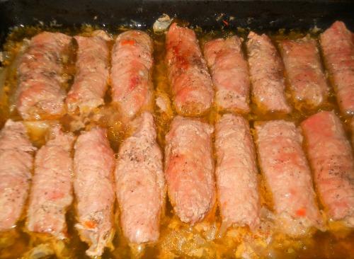 Мясные пальчики из свинины