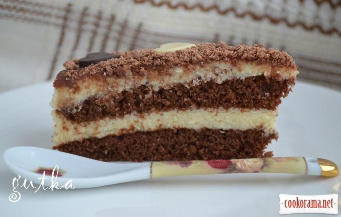 Торт «Пташине молоко» з манною кашою