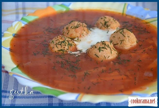 Суп буряковий з фрикадельками