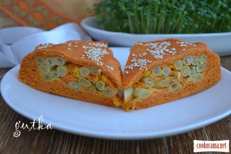 Пісний пиріг з овочами
