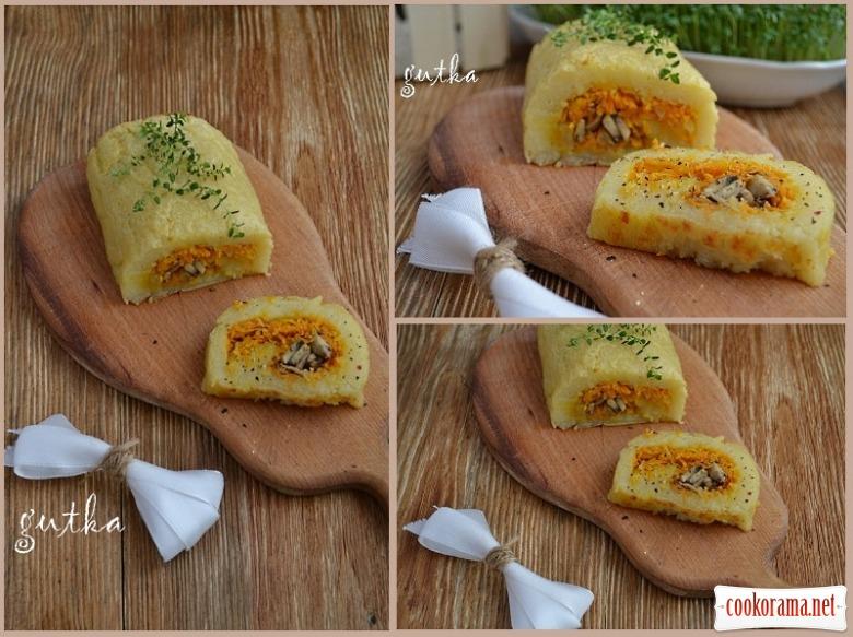 Картопляний рулет з начинкою