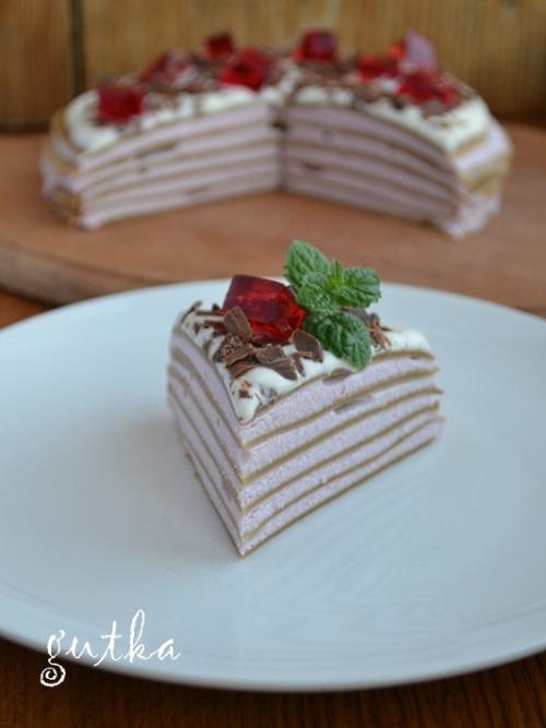 """Млинцевий торт """"Капучіно з вишневим ароматом"""""""