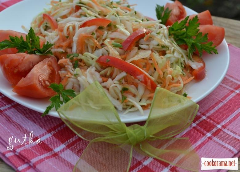 Салат з капусти по-болгарські