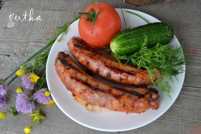 Колбаски-гриль в пряной глазури