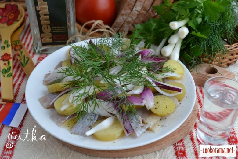 Закуска «Російська» з оселедця та молодої картоплі