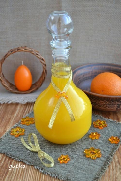 Апельсинова настоянка з медом та імбирем