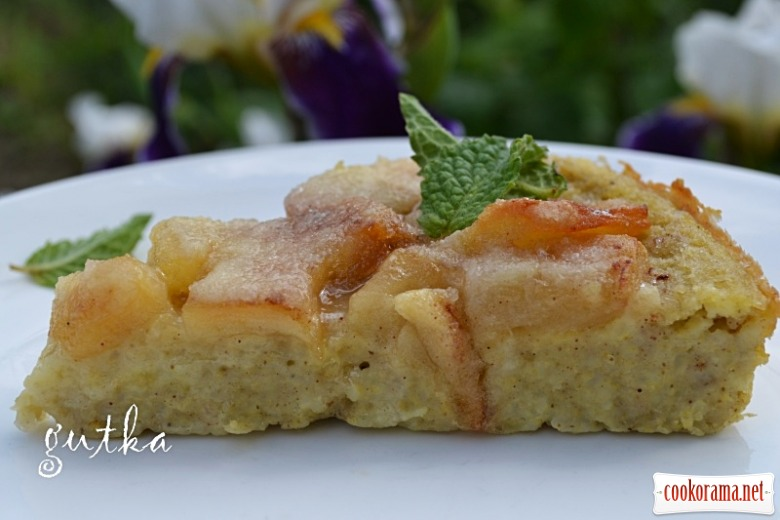 Пиріг «Яблука на пшоняній каші»