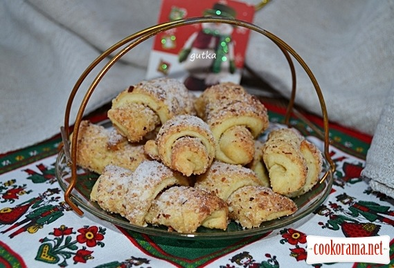 Печиво сирно-горіхове