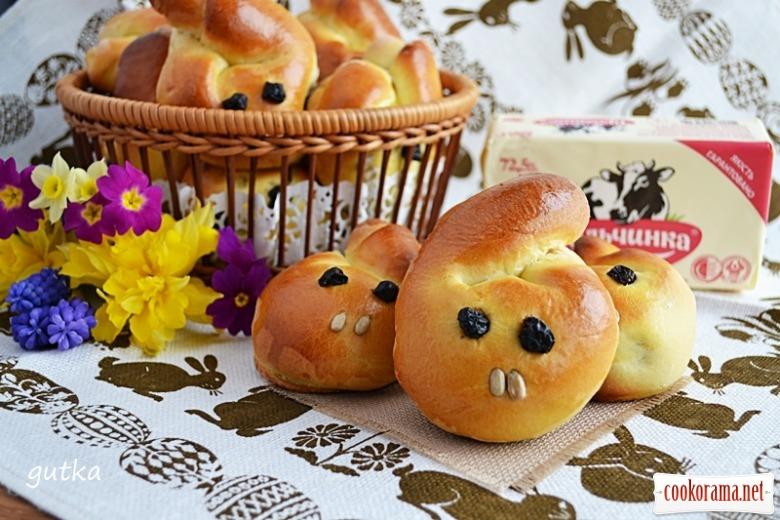 Пиріжки «Великодні зайці» з начинкою