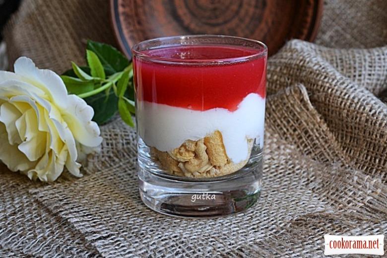 Десерт у склянці «аля-шарлотка»