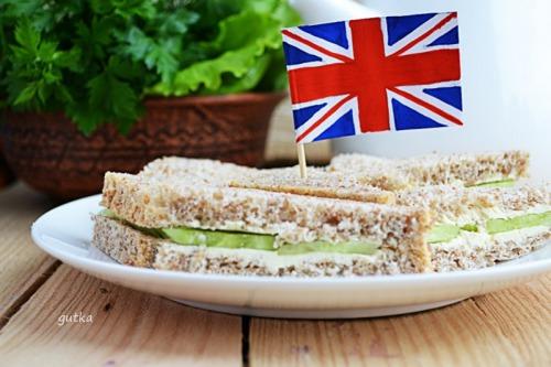 Английский сэндвич с огурцом