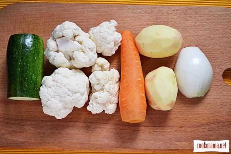 Овочевий суп-пюре. Мій тиждень детокс-меню. День п'ятий.
