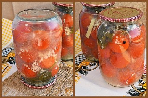"""""""Помідори в снігу"""" або помідори з часником на зиму"""