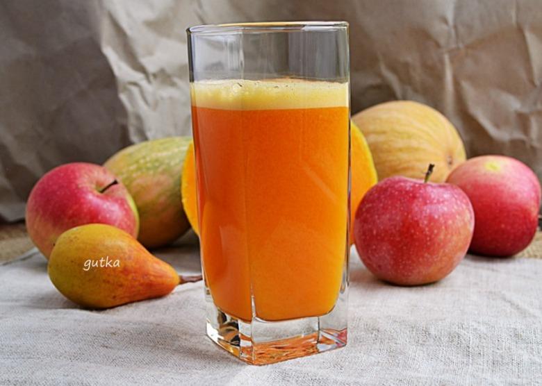 Сок из тыквы, яблок и груши