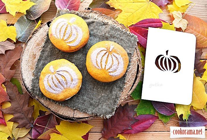 Тыквенные печенье с творожным кремом