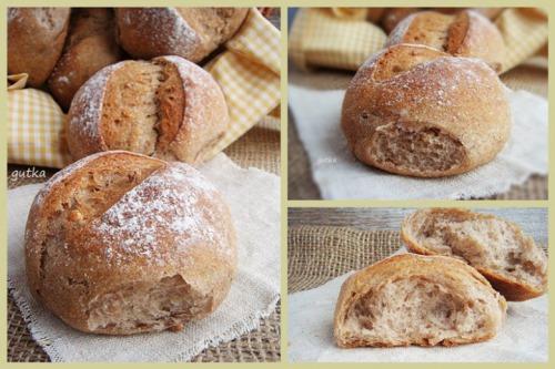 Булочки пшенично-гречані з волоськими горіхами та медом