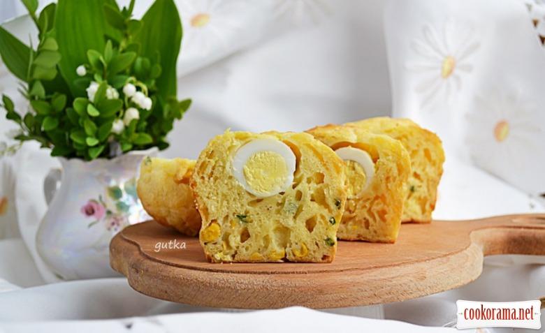 Сирні кекси з яйцем