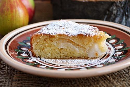 Швидкий сирний пиріг з фруктами