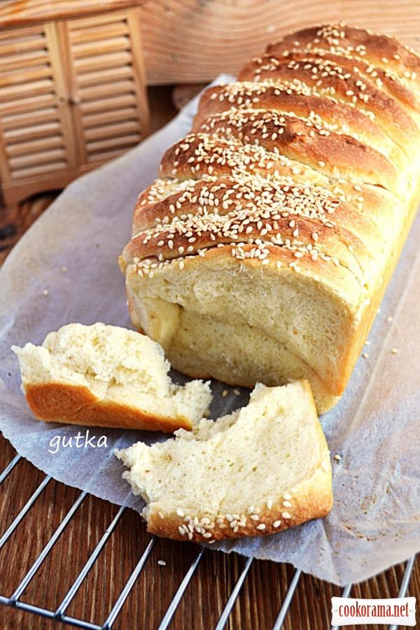 Хліб «гармошка» з кунжутом
