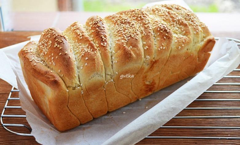 """Хліб """"гармошка"""" з кунжутом"""