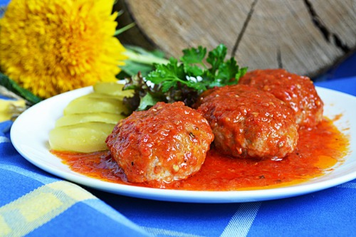 Гречаники в томатному соусі