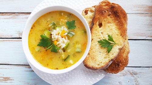 Суп з цукіні та рисом