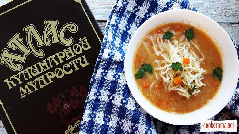 Суп-пюре з сочевиці по-неаполітанські