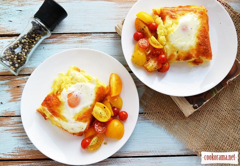 Картопляне пюре з сиром та яєшнею