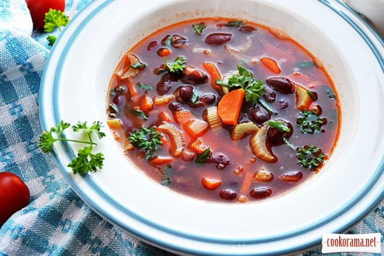 Суп з квасолі (пісний)