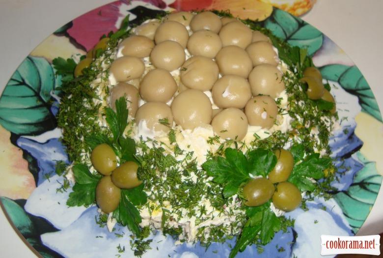 Рецепти м ясних салатів з фото