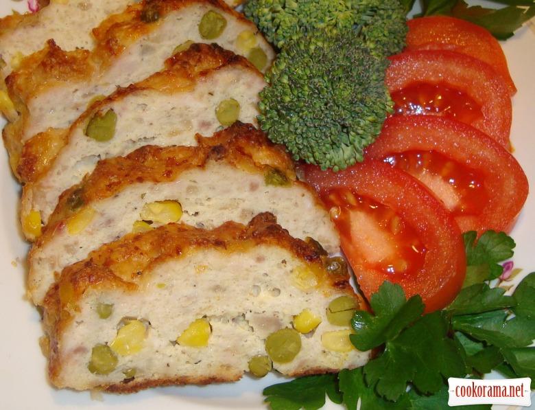 М'ясний хлібець з овочами