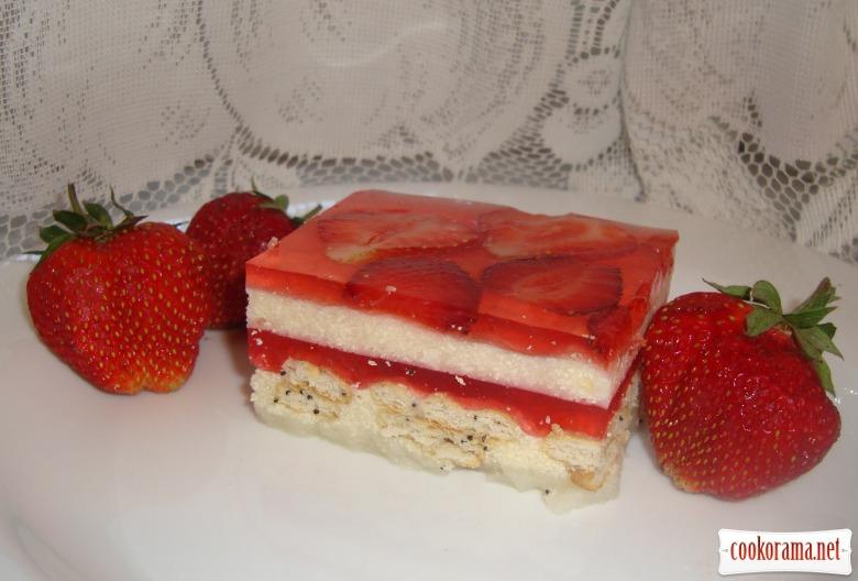 Десерт «Полунична насолода»