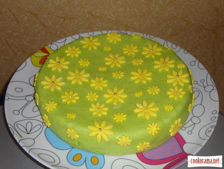 Крем для бисквита для торта с мастикой