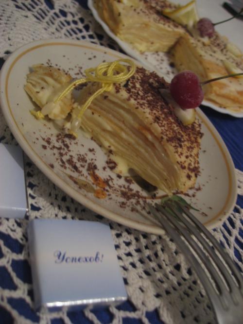 Ніжний млинцевий тортик