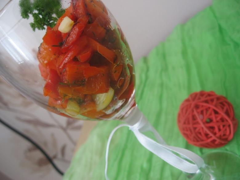 Теплий салат з болгарського перцю