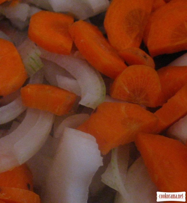 Моркв'яний суп-пюре з міні рулетиками