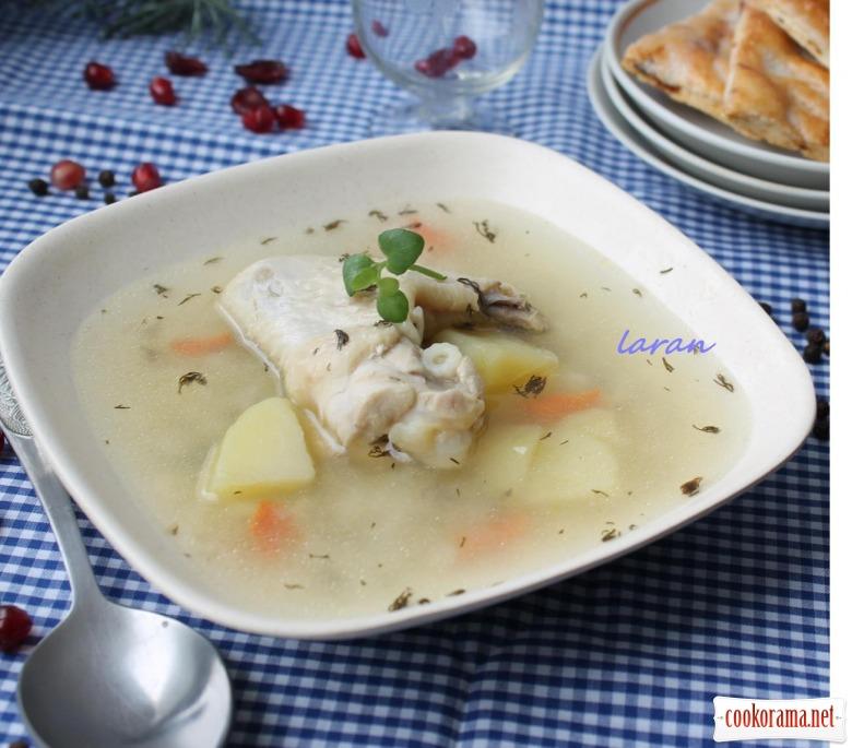 Суп з курячими крильцями