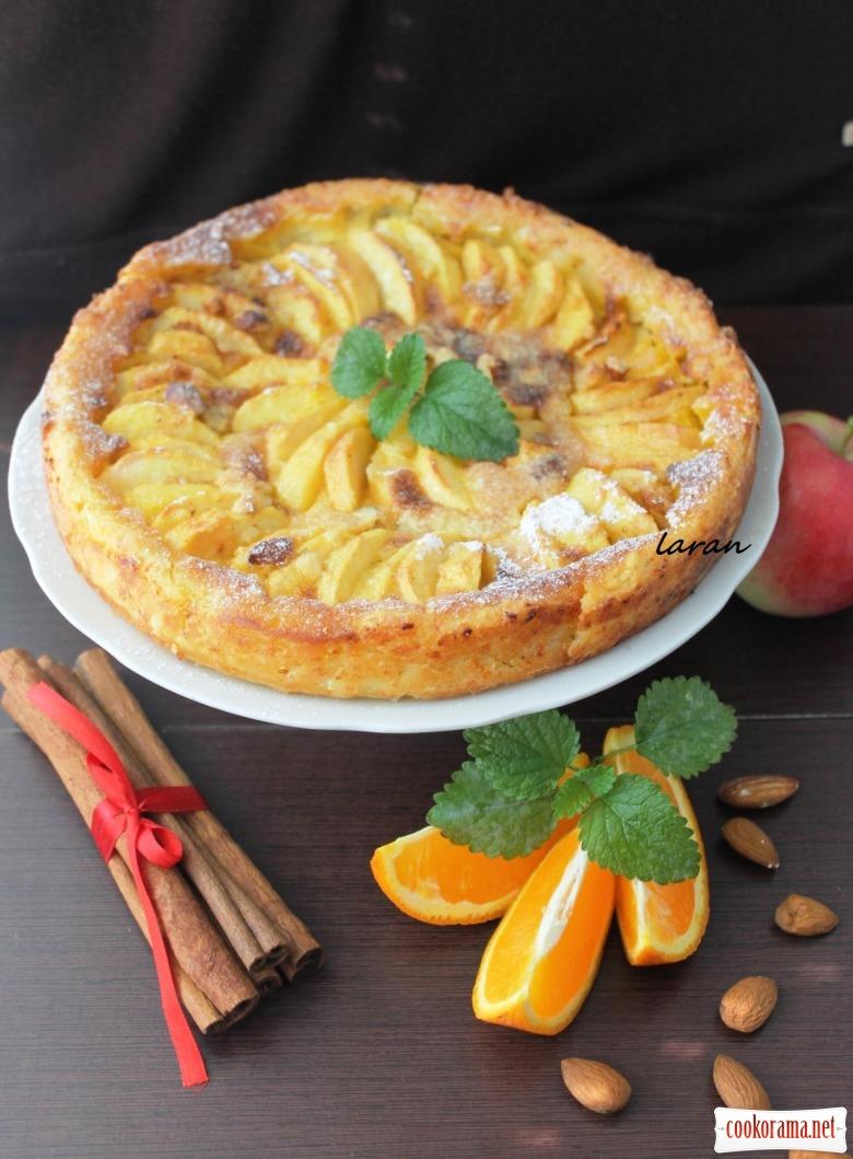 Ароматный яблочный тарт