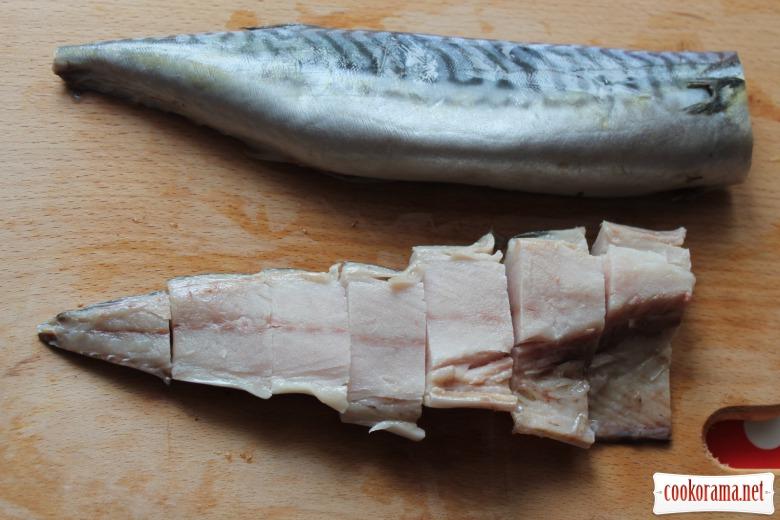 Cкумбрия под белковой корочкой
