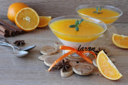 Вершково-апельсинова панна котта