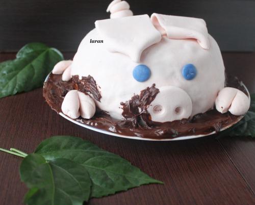 Торт «Свинка в болоті»